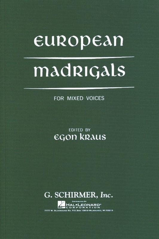 Europeans Madrigals - Partition - Chœur - laflutedepan.com