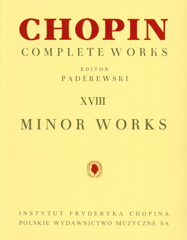 Complete Minor Works - CHOPIN - Partition - Piano - laflutedepan.com