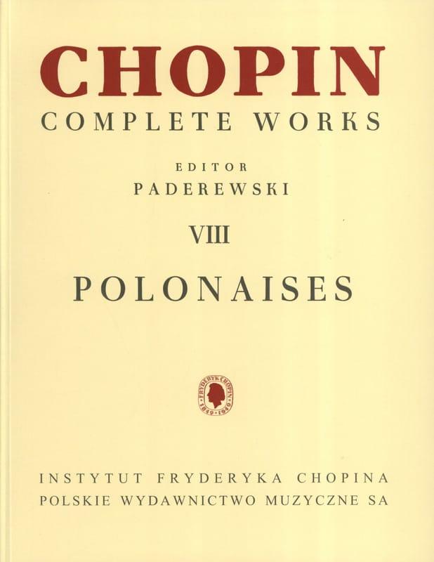 Polonaises - CHOPIN - Partition - Piano - laflutedepan.com