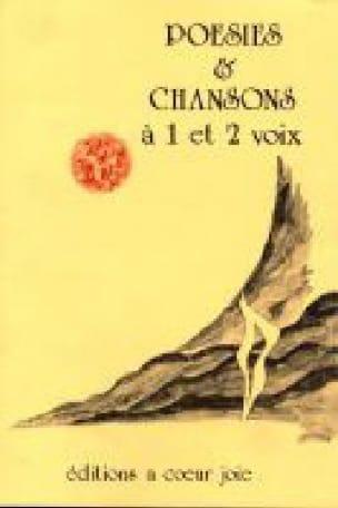 Poésies & Chansons à 1 et 2 Voix - Partition - laflutedepan.com