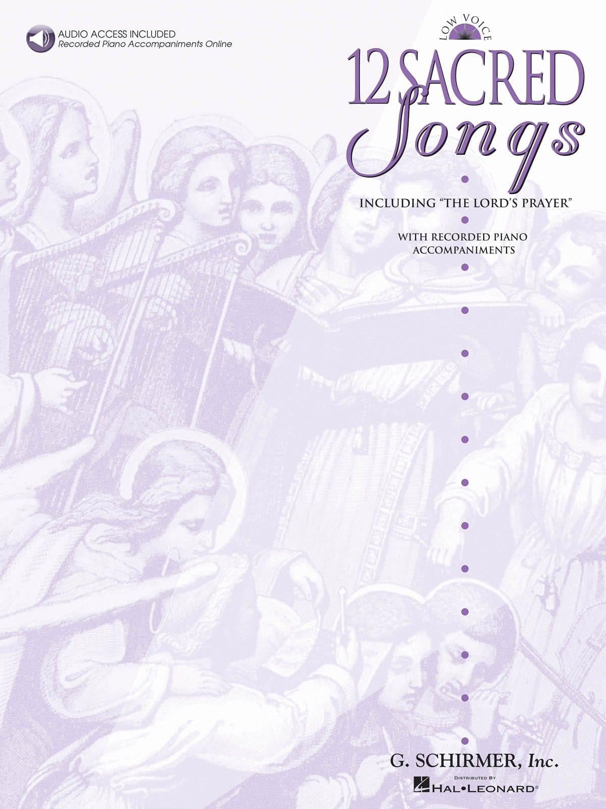 12 Sacred Songs. Voix Grave - Partition - laflutedepan.com