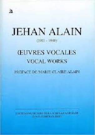 Jehan Alain - Vocal Works - Partition - di-arezzo.com