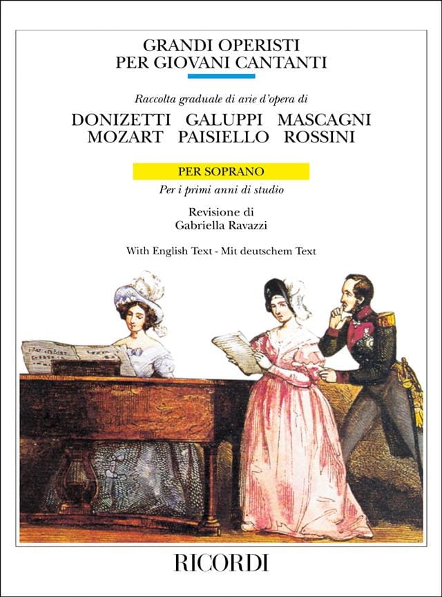- Grandi Operisti Per Giovani Cantanti. Soprano Volume 1 - Partition - di-arezzo.co.uk