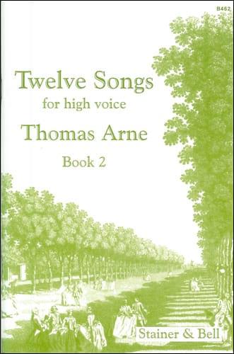 12 Songs Volume 2 - Thomas Augustine Arne - laflutedepan.com