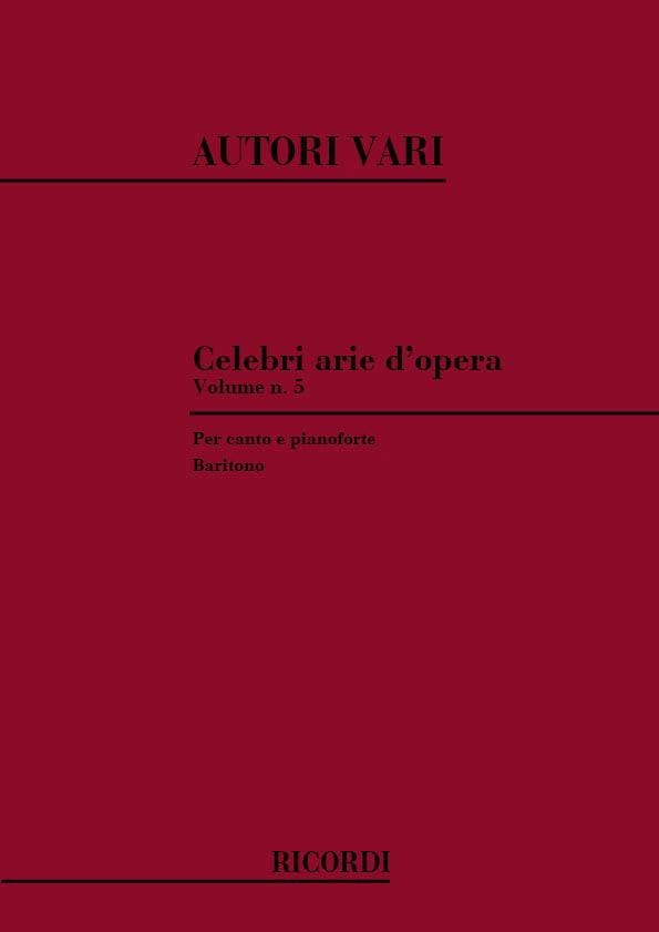 Celebri Arie D'opera. Baryton - Partition - laflutedepan.com