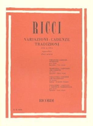 Luigi Ricci - Variationen. Kadenzen. Traditionen, Anhang 1 - Partition - di-arezzo.de