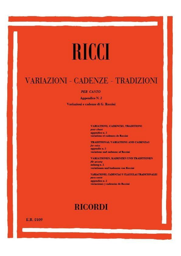 Luigi Ricci - Variationen. Kadenzen. Traditionen, Anhang 2 - Partition - di-arezzo.de