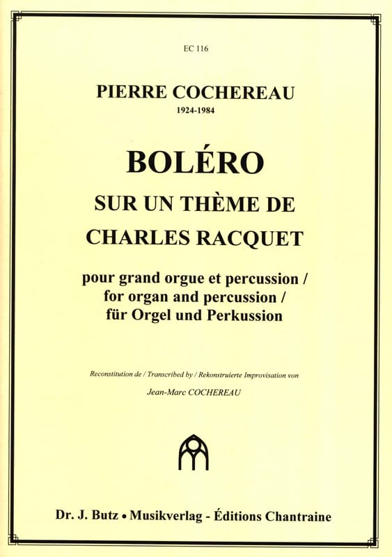 Pierre Cochereau - Bolero - Partition - di-arezzo.co.uk