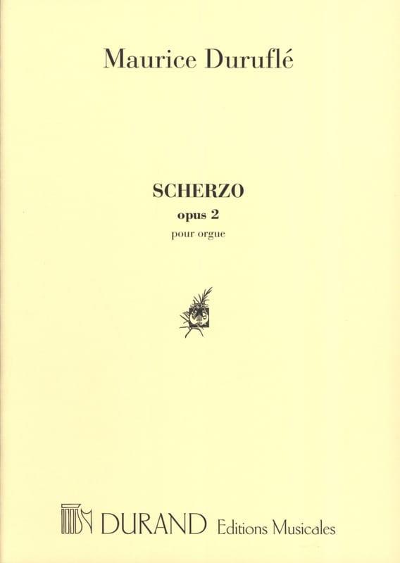 Maurice Duruflé - Scherzo. Opus 2 - Partition - di-arezzo.co.uk