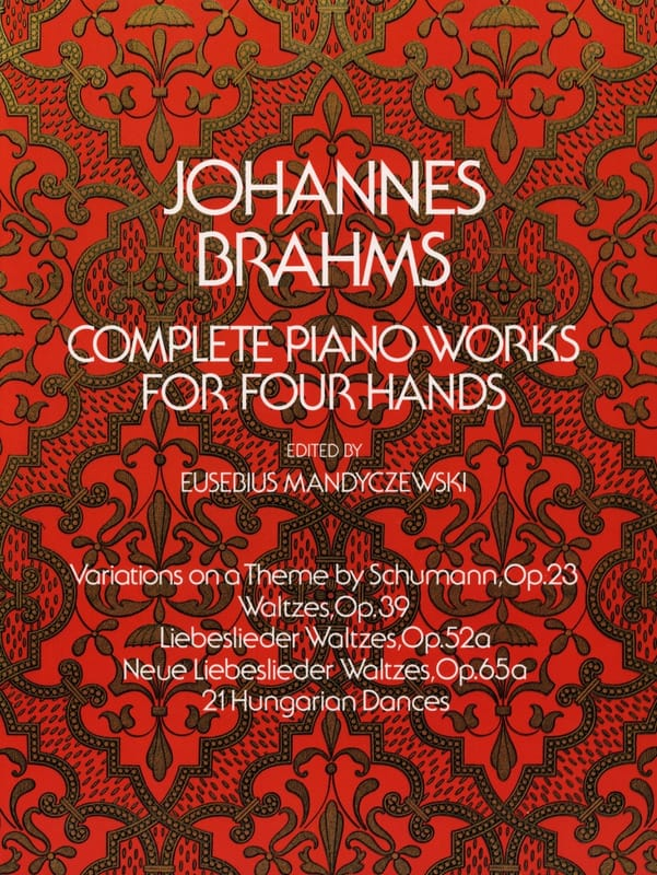 BRAHMS - Complete Works for piano with 4 hands - Partition - di-arezzo.co.uk
