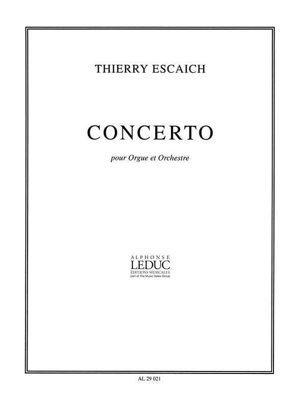 Concerto - Thierry Escaich - Partition - Orgue - laflutedepan.com
