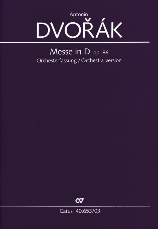 DVORAK - Misa En Re Opus 86 Versión Orquesta - Partition - di-arezzo.es