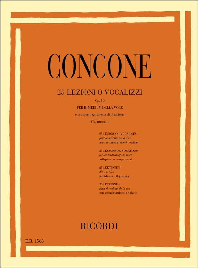 Giuseppe Concone - 25 Lessons Or Vocalises Opus 10 - Partition - di-arezzo.co.uk