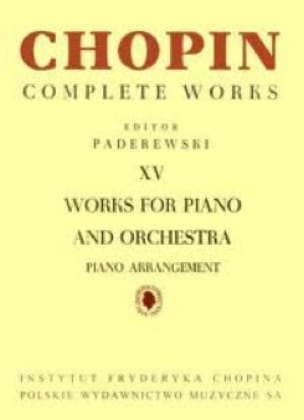 CHOPIN - Works for Piano and Orchestra - Partition - di-arezzo.co.uk