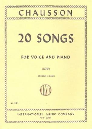 Ernest Chausson - 20 canciones. Voz grave - Partition - di-arezzo.es