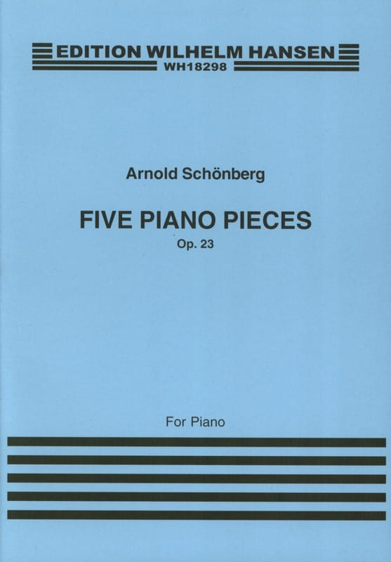 Arnold Schoenberg - 5 Klavierstücke Opus 23 - Partition - di-arezzo.com