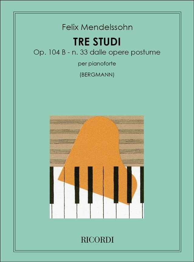 MENDELSSOHN - 3 Estudios Opus 104b. - Partition - di-arezzo.es
