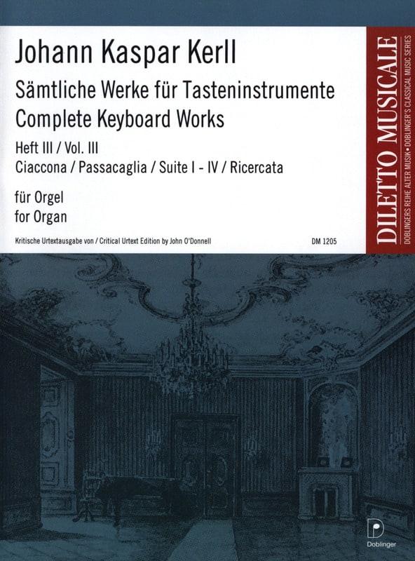 Oeuvres Complètes Volume 3 - Johann Kaspar Kerll - laflutedepan.com