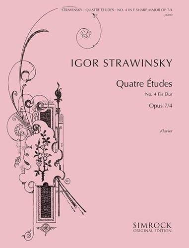 4 Etudes Opus 7-4 - STRAVINSKY - Partition - Piano - laflutedepan.com