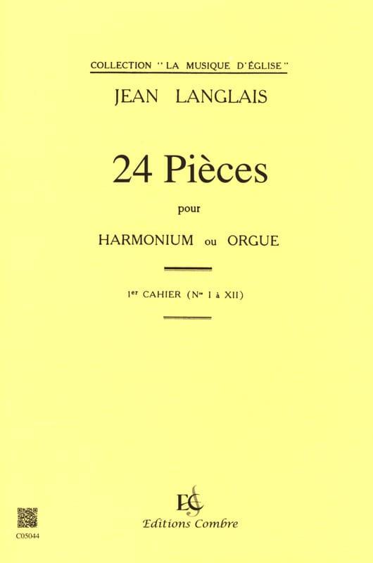 Jean Langlais - 24 pezzi Opus 6. 1 cartella di lavoro - Partition - di-arezzo.it