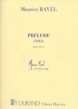 Maurice Ravel - Prelude 1913 - Partition - di-arezzo.co.uk