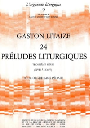 Gaston Litaize - 24 Liturgical Preludes Volume 3 - Partition - di-arezzo.com