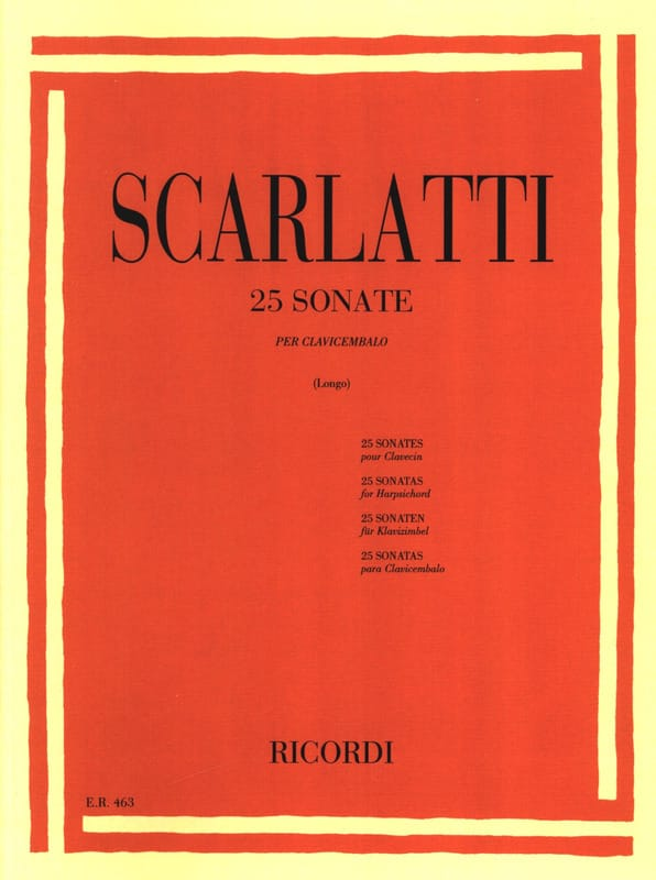 Domenico Scarlatti - 25 Sonatas - Partition - di-arezzo.co.uk
