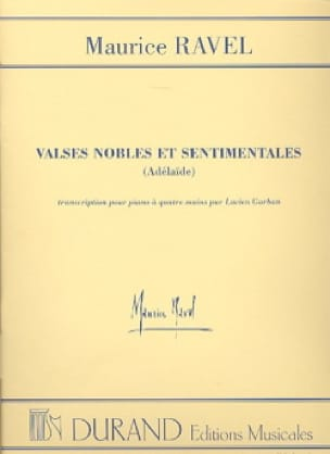 Maurice Ravel - Noble and Sentimental Waltzes. 4 hands - Partition - di-arezzo.co.uk