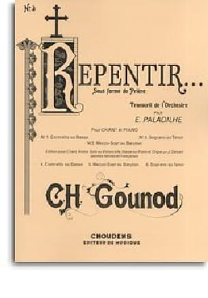 Charles Gounod - Repentance - High Voice - Partition - di-arezzo.co.uk