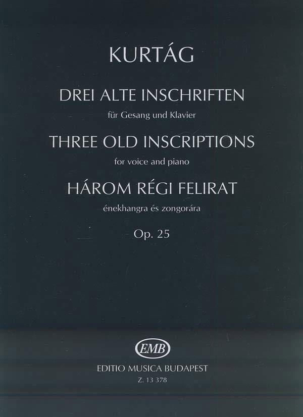 Harom Régit Felirat Opus 25. - KURTAG - Partition - laflutedepan.com