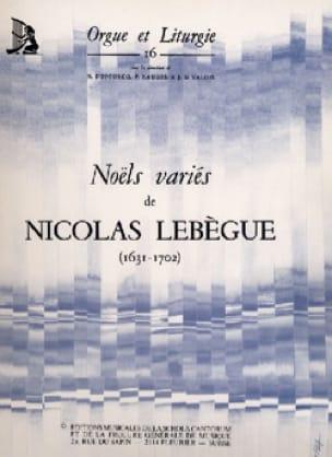 Nicolas Lebègue - Noëls variés - Partition - di-arezzo.fr