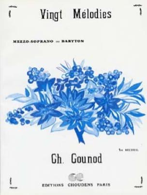 Charles Gounod - 20 Mélodies Volume 1. Voix Moyenne - Partition - di-arezzo.fr