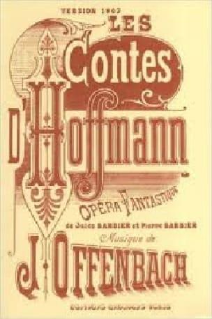 Jacques Offenbach - Les Contes D'Hoffmann - Partition - di-arezzo.fr