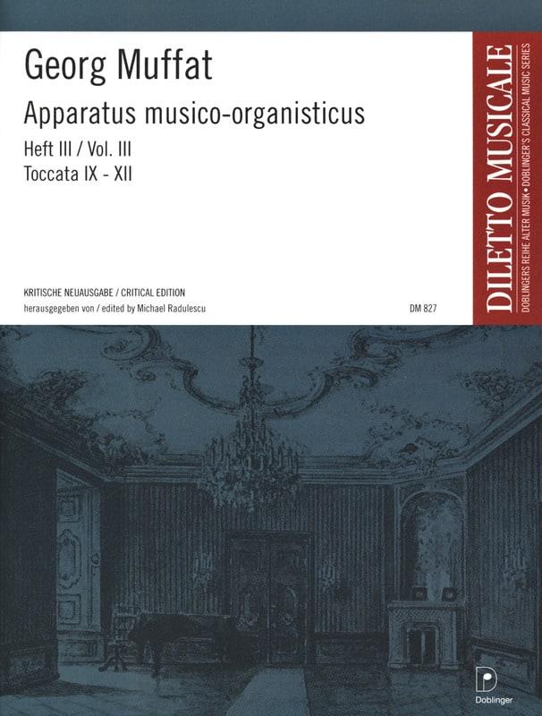 Georg Muffat - Apparatus Musico-Organisticus Volume 3 - Partition - di-arezzo.fr