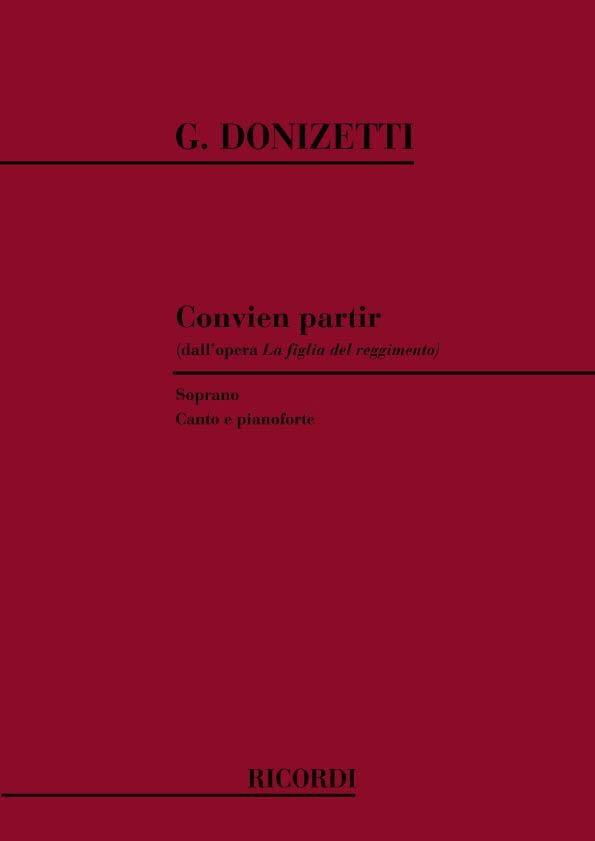 Gaetano Donizetti - Go away. Figlia Del Regimento - Partition - di-arezzo.co.uk