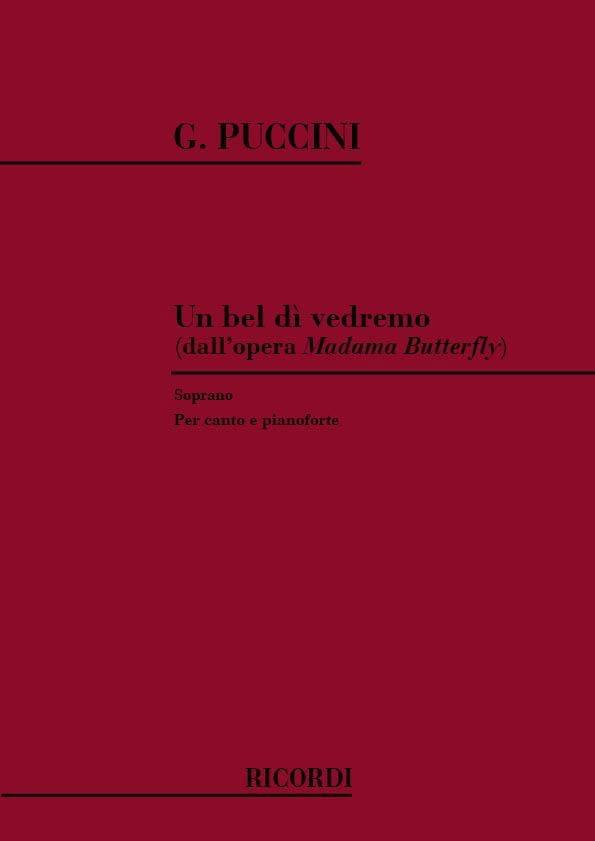 Giacomo Puccini - A Bel Di Vedremo. Madama Butterfly. - Partition - di-arezzo.com