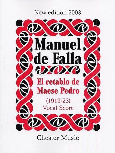 El Retablo de Maese Pedro. - DE FALLA - Partition - laflutedepan.com