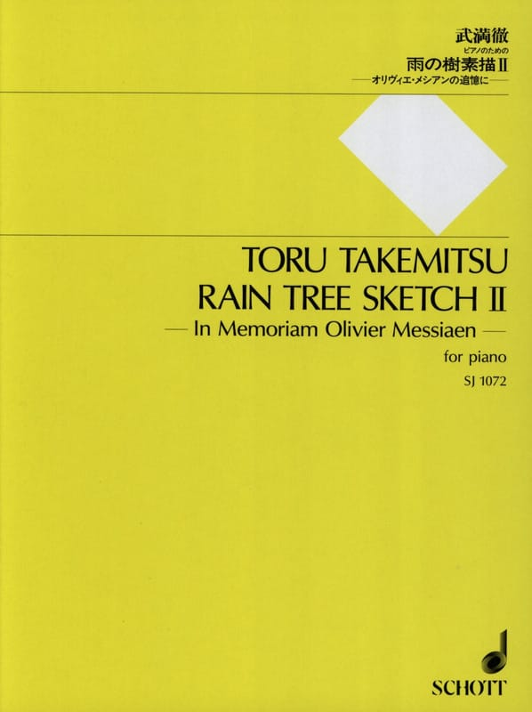 Toru Takemitsu - Rain Tree Sketch 2 - Partition - di-arezzo.fr