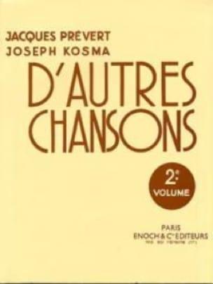 Joseph Kosma - Other Songs Volume 2 - Partition - di-arezzo.co.uk