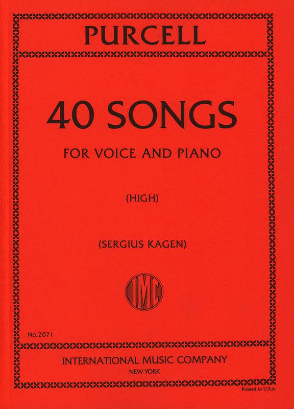 Henry Purcell - 40 Songs. Aloud - Partition - di-arezzo.co.uk