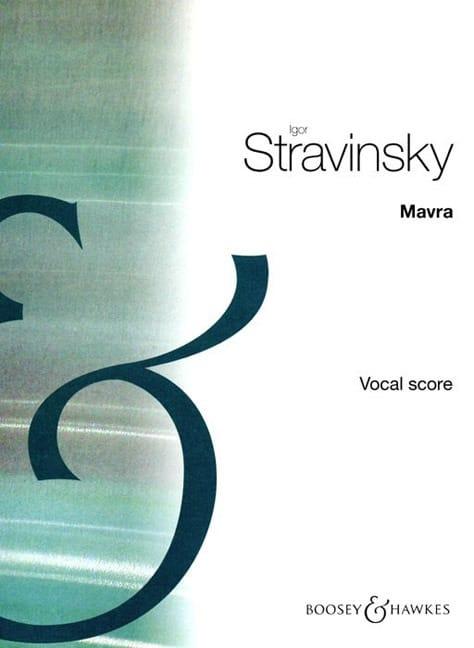 Mavra - STRAVINSKY - Partition - Opéras - laflutedepan.com