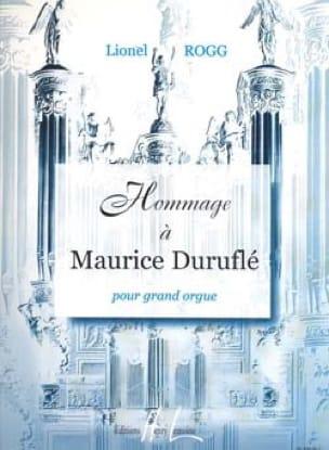 Hommage A Duruflé - Lionel Rogg - Partition - Orgue - laflutedepan.com