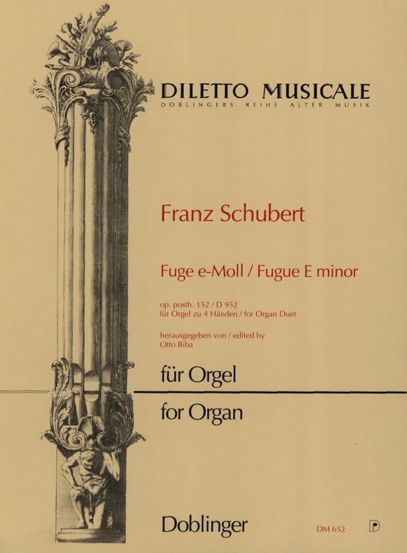 SCHUBERT - Fugue In E Minor D 952. 4 Hands Organ - Partition - di-arezzo.co.uk