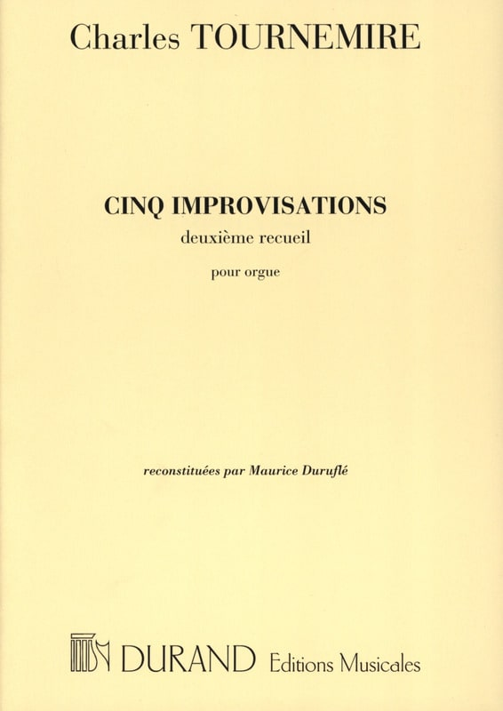 5 Improvisations. Volume 2 - Charles Tournemire - laflutedepan.com