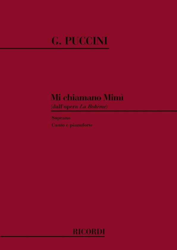 Giacomo Puccini - Mi Chiamano Mimi. Bohemian - Partition - di-arezzo.co.uk