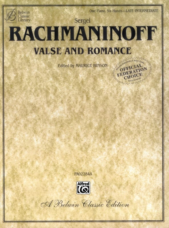 RACHMANINOV - Waltz and Romance. 6 Hands - Partition - di-arezzo.co.uk