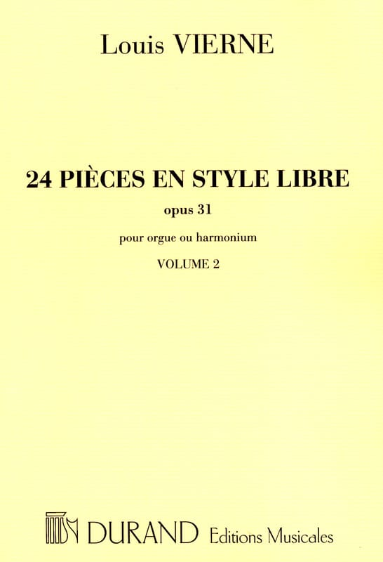 Louis Vierne - 24 Pieces Free Style Volume 2 Opus 31 - Partition - di-arezzo.co.uk
