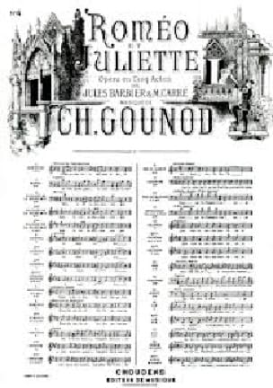 Charles Gounod - I want to live. Excerpt from Romeo and Juliet - Partition - di-arezzo.co.uk