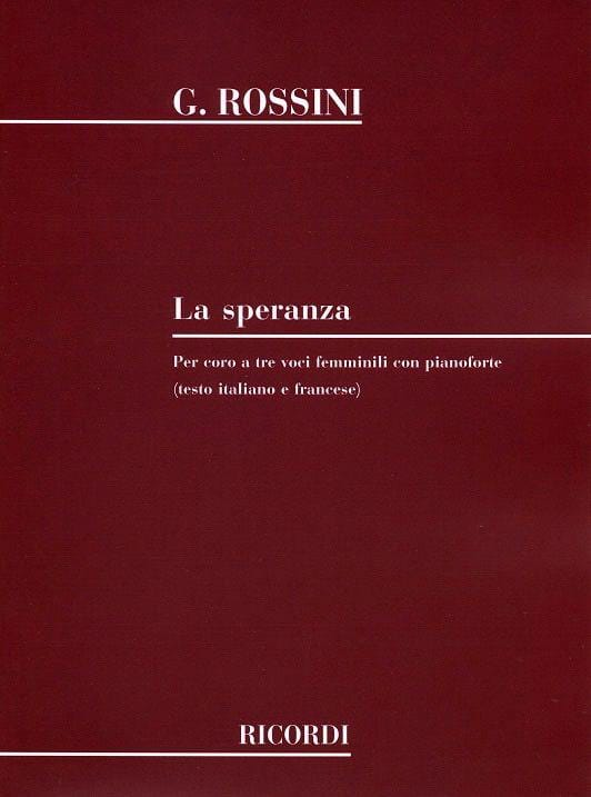 Gioachino Rossini - The Speranza - Partition - di-arezzo.com