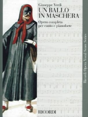 VERDI - A Ballo In Maschera - Partition - di-arezzo.co.uk